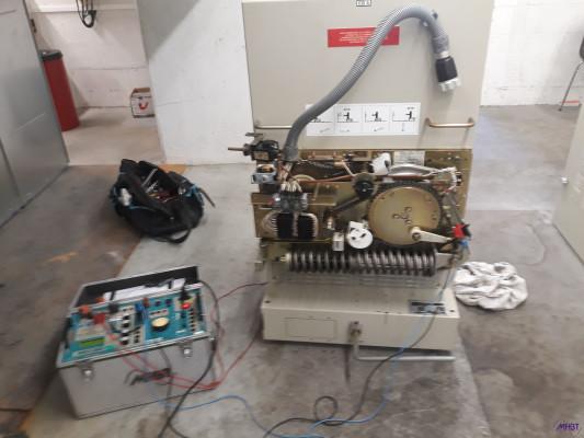 Maintenance disjoncteur contacteur HTA ALSTOM - Chariot FP essai de la commande BLR